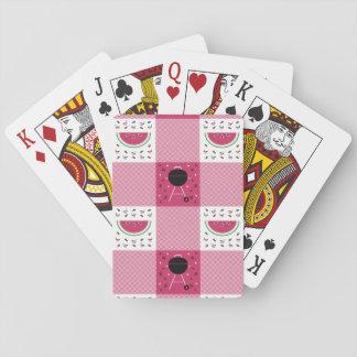 Jogo De Baralho Cartões de jogo clássicos do piquenique do verão