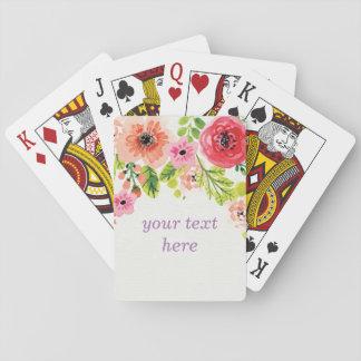 Jogo De Baralho Cartões de jogo clássicos, floral cor-de-rosa