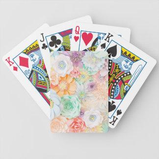 Jogo De Baralho Cartões de jogo coloridos Pastel
