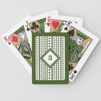 Jogo De Baralho Cartões de jogo com trevo & monograma da