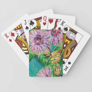 Jogo De Baralho Cartões de jogo cor-de-rosa da goma