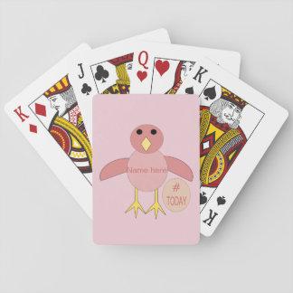 Jogo De Baralho Cartões de jogo cor-de-rosa feitos sob encomenda