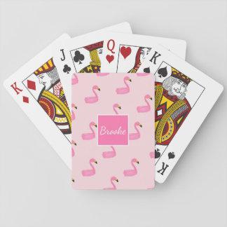Jogo De Baralho Cartões de jogo cor-de-rosa personalizados