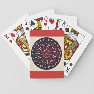 Jogo De Baralho Cartões de jogo cósmicos vermelhos do design