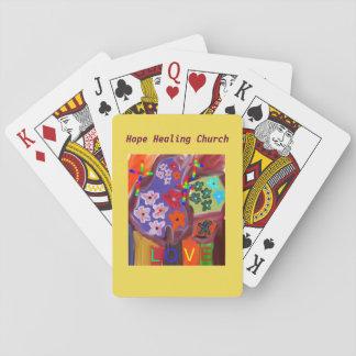 Jogo De Baralho Cartões de jogo cristãos do amor da igreja cura da
