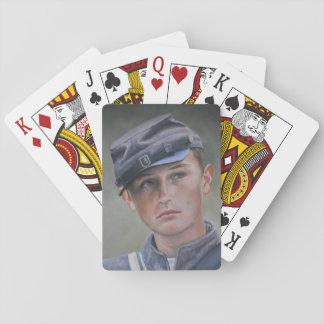Jogo De Baralho Cartões de jogo da arte do retrato do soldado da