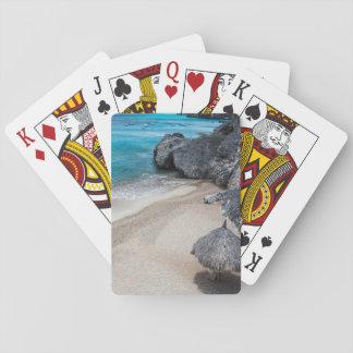 Jogo De Baralho Cartões de jogo da cabana e da praia