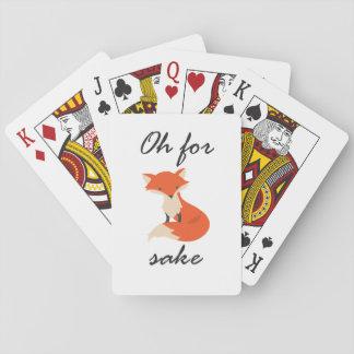 Jogo De Baralho Cartões de jogo da causa do Fox