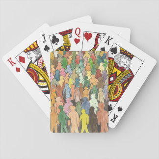 Jogo De Baralho Cartões de jogo da fonte da multidão