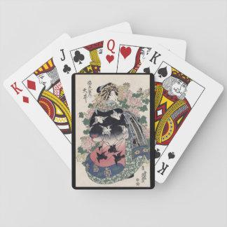 Jogo De Baralho Cartões de jogo da gueixa de Eisen Ukiyo-e