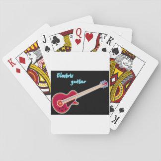 Jogo De Baralho Cartões de jogo da guitarra elétrica