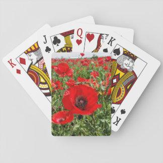 Jogo De Baralho Cartões de jogo da papoila de Flanders