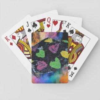 Jogo De Baralho Cartões de jogo da rocha do coração