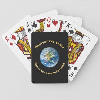 Jogo De Baralho Cartões de jogo da terra do planeta do respeito