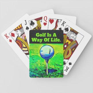Jogo De Baralho Cartões de jogo das citações do golfe