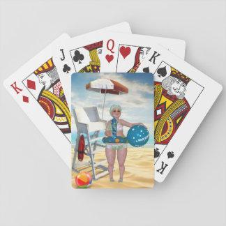 Jogo De Baralho Cartões de jogo de banho engraçados da praia da