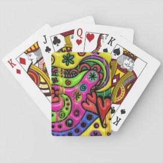 Jogo De Baralho Cartões de jogo de derretimento do flashback