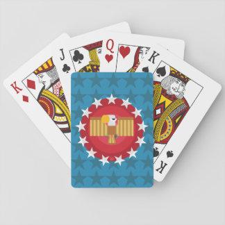 Jogo De Baralho Cartões de jogo de Eagle da liberdade (azul) -