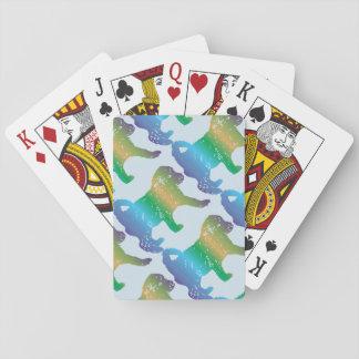 Jogo De Baralho Cartões de jogo do amor de filhote de cachorro da