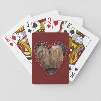 Jogo De Baralho Cartões de jogo do amor de Yorkie