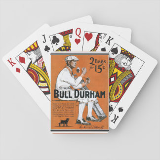 Jogo De Baralho Cartões de jogo do anúncio do vintage de Bull