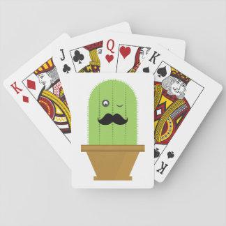 Jogo De Baralho Cartões de jogo do cacto do bigode