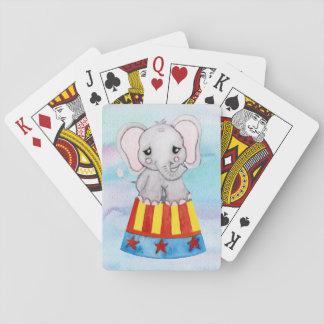 Jogo De Baralho Cartões de jogo do elefante do circo
