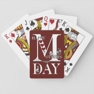 Jogo De Baralho Cartões de jogo do feliz dia das mães