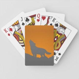 Jogo De Baralho Cartões de jogo do lobo do urro