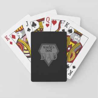 Jogo De Baralho Cartões de jogo do pai do mundo os melhores