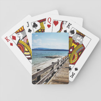 Jogo De Baralho Cartões de jogo do passeio à beira mar do lago