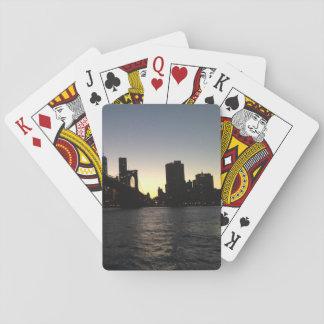 Jogo De Baralho Cartões de jogo do por do sol da Nova Iorque