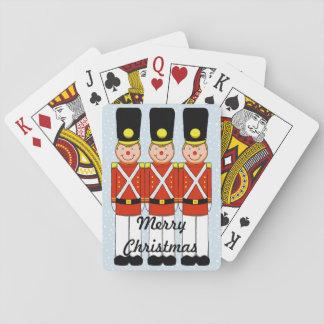 Jogo De Baralho Cartões de jogo do soldado do Natal
