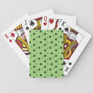 Jogo De Baralho Cartões de jogo do teste padrão do trevo