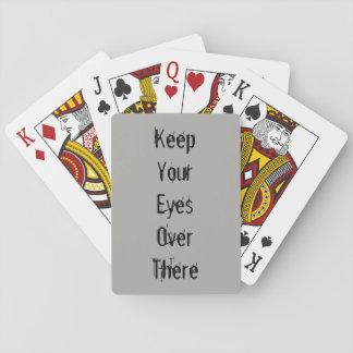 Jogo De Baralho Cartões de jogo dos olhos