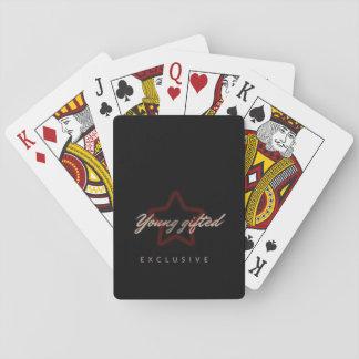Jogo De Baralho Cartões de jogo dotado novos