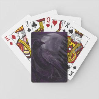 Jogo De Baralho Cartões de jogo enluaradas de Corvid