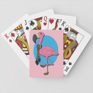 Jogo De Baralho Cartões de jogo extravagantes do flamingo, caras