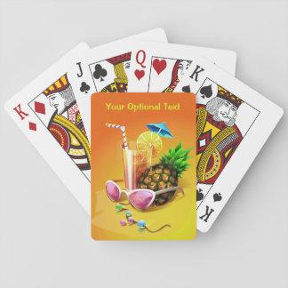 Jogo De Baralho Cartões de jogo feitos sob encomenda da bebida