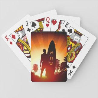 Jogo De Baralho Cartões de jogo feitos sob encomenda do monograma