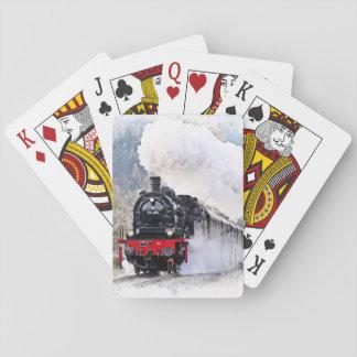 Jogo De Baralho Cartões de jogo locomotivos do trem