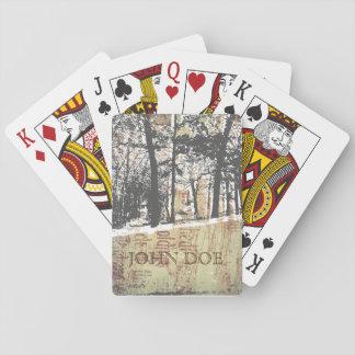 Jogo De Baralho Cartões de jogo nevado do Woodsman