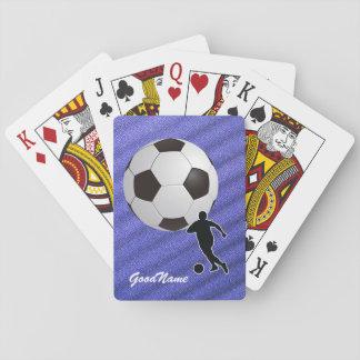 Jogo De Baralho Cartões de jogo - o futebol, personaliza com nome
