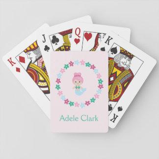 Jogo De Baralho Cartões de jogo personalizados da sereia