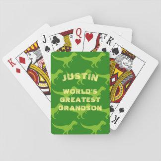Jogo De Baralho Cartões de jogo personalizados do dinossauro para