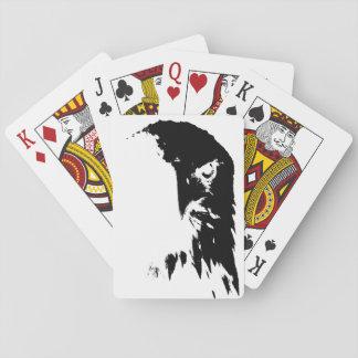 Jogo De Baralho Cartões de jogo pretos & brancos da águia