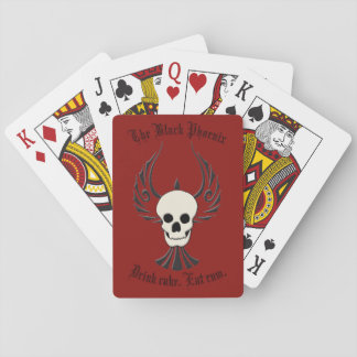 Jogo De Baralho Cartões de jogo pretos de Phoenix