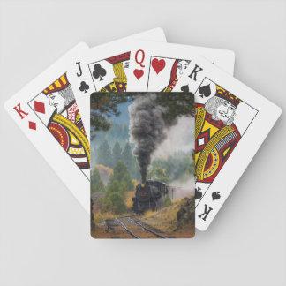 Jogo De Baralho Cartões de jogo pretos do motor de vapor