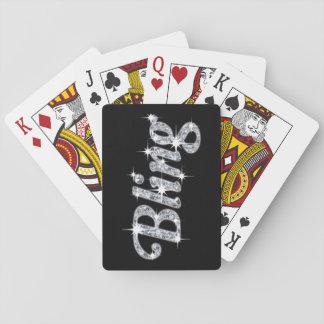 Jogo De Baralho Cartões de jogo que caracterizam o design bling do