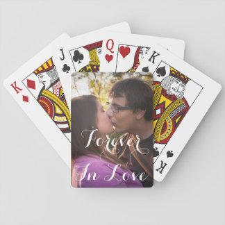 Jogo De Baralho Cartões de jogo românticos do amor ou do dia dos
